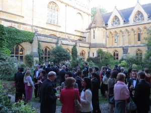 Wills Exe Champagne reception