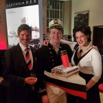 Greg, Charlie and Joanna at launch party by big book