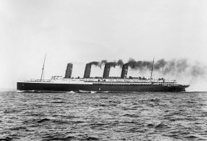 Lusitania at Sea