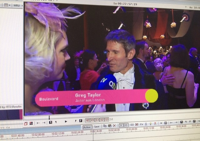 TV interview Augsburg TV Opera Ball